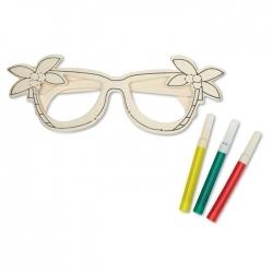 Drewniane okulary.