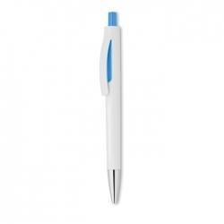 Przyciskany długopis w białej