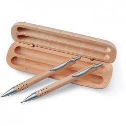 Długopis i ołówek w pudełku
