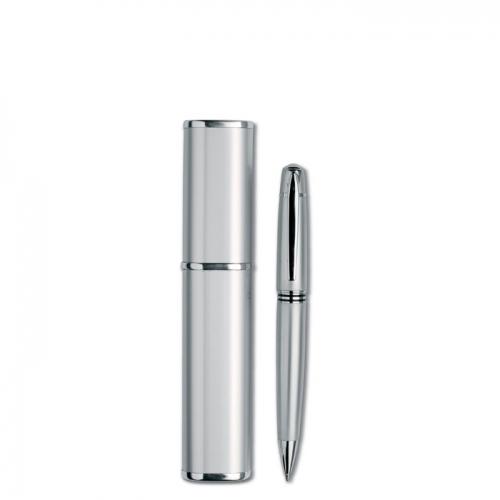 Długopis w aluminiowym pudełku