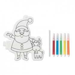 Balon mikołaj do kolorowania
