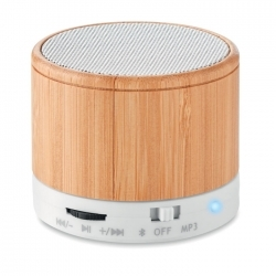 Głośnik bezprzew z bambusa