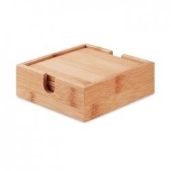 Zestaw 4 podstawek z bambusa