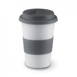 Ceramiczny kubek z przykrywką