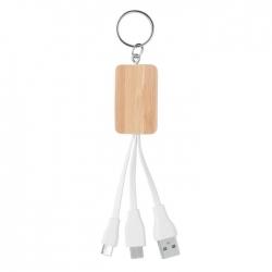 Bambusowy kabel 3 w 1