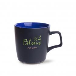Kubek BARREL SUPREME   czarny matowy/reflex blue