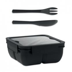 Lunchbox ze sztućcami 600ml
