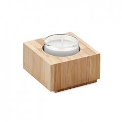 Bambusowy uchwyt na tealight