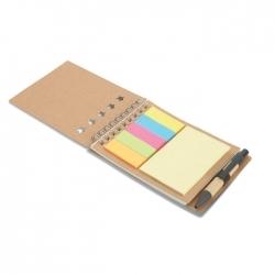Notes z długopisem oraz koloro