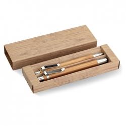 Bambusowy zestaw długopis  i o