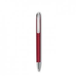 Przekręcany długopis w metalow