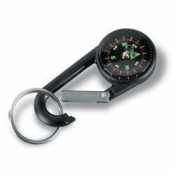 Karabinek z kompasem, brelok