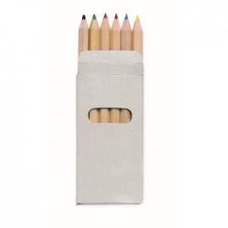 6 kolorowych ołówków